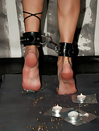 Thumbtack time again. Queensnake's dreaded challenge, her very sensitive..