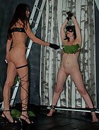 Sharon is a new found toy of Queensnake. She never encountered stinging..