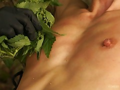 Watch Queensnake's tiny tits getting trashed by Nazryana's strokes of bundles..